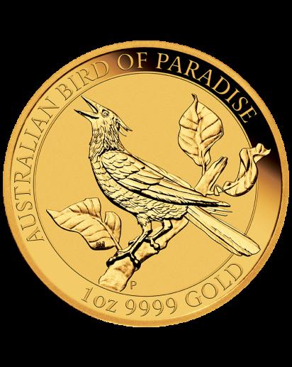Australien 2019  Birds of Paradise - Manucodia Paradiesvogel Gold 1 oz