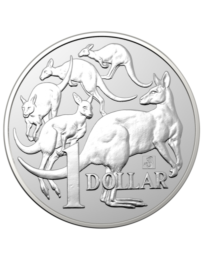 Australien 2019 MOB OF ROOS - Singapur Coin Show Special Silber 1 oz