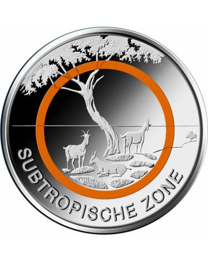BRD 2018 Subtropische Zone 5 € st Prägestätte MÜNCHEN = D