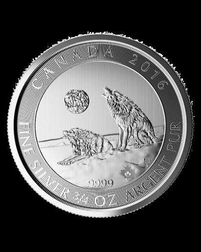 Canada 2016 Grey Wolf  - Grauwolf Silber 3/4 oz