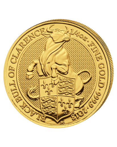 GB 2018   Queens Beast  Black Bull of Clarence  Gold 1/4 oz