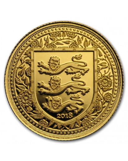 Gibraltar 2018   Royal Arms of England Gold 1/5 oz