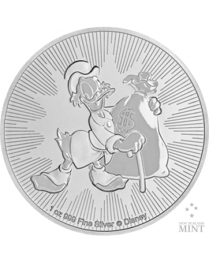 Niue 2018  Scrooge McDuck  - Dagobert Duck Silber 1 oz