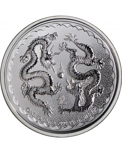 Niue 2018  Double Dragon  Silber 1 oz