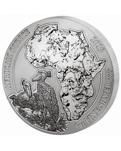 Ruanda 2019 Schuhschnabel 1 oz Silber