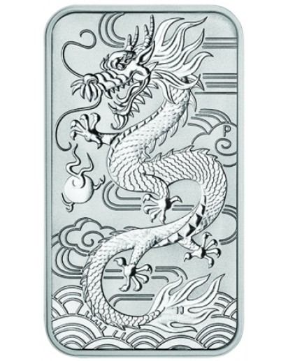 Australien 2018  Rectangle Dragon - Drache Silbermünze - Münzbarren 1 oz