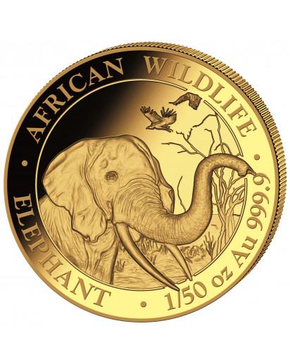 Somalia 2018   Elefant    Gold 1/50 oz