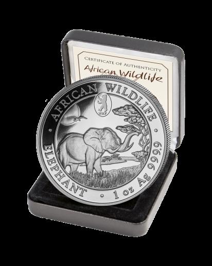 Somalia 2019   Elefant Privy Mark WMF Berliner Bär 1 oz Silber