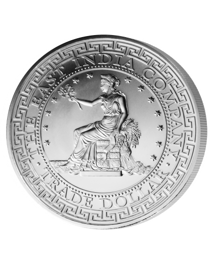 St. Helena 2018   US Trade Dollar Britannia Silber 1 oz