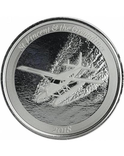 ST. VINCENT & GRENADINES - Seaplane  EC8 Serie Silber 1 oz