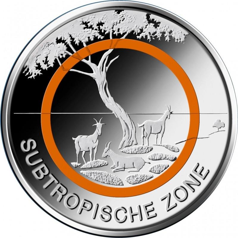 Brd 2018 Subtropische Zone 5 St Polymerring Orange Prägestätte D
