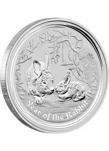 Australien 2011 Jahr des Hasen Lunar II Silber 1 Kilo