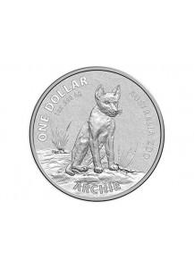 Australien 2017  Dingo Archie - Serie Australien Zoo Silber 1 oz Blister