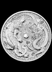 Australien 2018  DRACHE UND TIGER  1 $ Silber