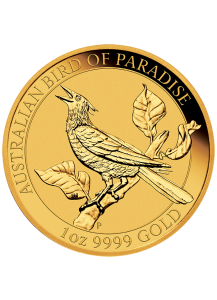 Australien 2019  Birds of Paradise - Manucodia Paradiesvogel Gold 1 oz