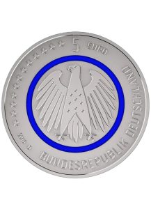 BRD 2016 Planet Erde 5 € st    Prägestätte G = Karlsruhe