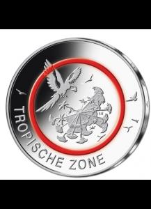BRD 2017 Tropische Zone 5 € st Prägestätte Stuttgart F