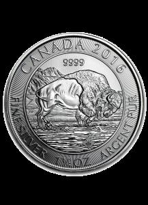 Canada 2016 Canadischer Bison  1 1/4  oz Silber