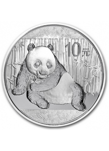 China 2015  Panda  Silber 1 oz