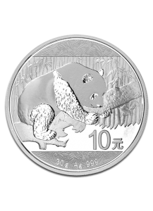 China 2016  Panda  Silber 30 g