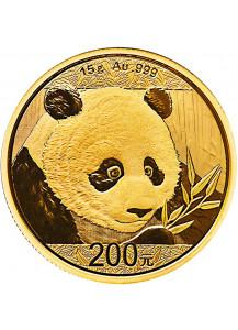 China 2018    Panda  Gold 15 g