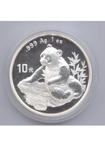 China 1998  Panda  Silber 1 oz