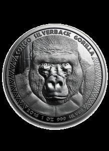 Congo 2016 Gorilla Silber