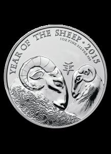 UK 2015 Lunar Schaf - Ziege  1 oz Silber