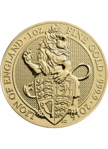 GB 2016   Queens Beast  Lion - Löwe Gold 1 oz