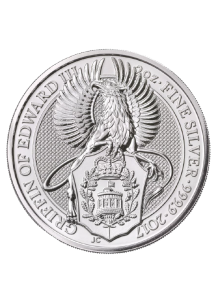 GB 2017   Queens Beast  The Griffin - Greif von Edward III.  Silber 2 oz