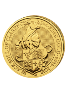 GB 2018   Queens Beast  Black Bull of Clarence  Gold 1 oz
