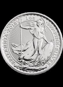 Großbritannien 2018  Britannia  Silber 1 oz