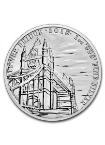 GB 2018  Tower Bridge Landmarkserie  Silber 1 oz