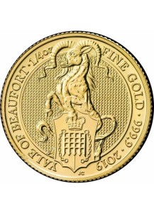GB 2019   Queens Beast  The Yale of Beaufort  Gold 1/4 oz