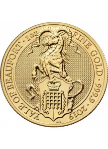 GB 2019   Queens Beast  The Yale of Beaufort Gold 1 oz