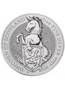 GB 2019   Queens Beast  Unicorn - Einhorn Silber 10 oz