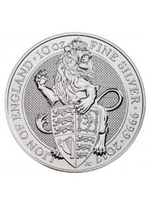 GB 2017   Queens Beast  Lion - Löwe Silber 10 oz