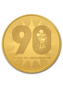 Niue 2018  Disney 90 Jahre Mickey Mouse  Gold 1 oz