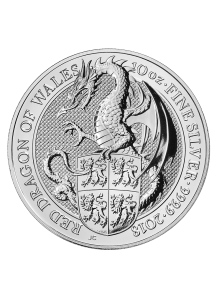 GB 2018   Queens Beast  Red Dragon Silber 10 oz