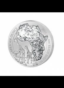 Ruanda 2018 Giraffe 1 oz Silber