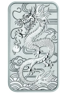 Australien 2018  Rectangle Dragon - Drache Silbermünze - Münzbarren 1 oz