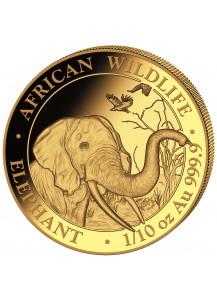 Somalia 2018  Elefant  Gold 1/10 oz
