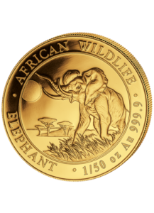 Somalia 2017   Elefant    Gold 1/50 oz