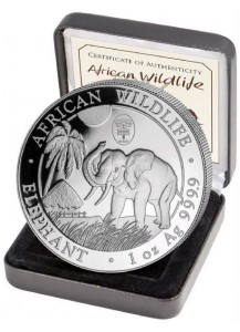 Somalia 2017   Elefant Privy WMF Berlin Auflage 1000 Stück 1 oz Silber
