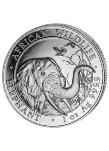 Somalia 2018   Elefant 1 oz Silber