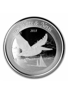 St. Kitts & Nevis 2018  Brauner Pelikan Silber 1 oz