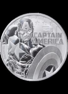Tuvalu 2019  Marvel  Captain America   Silber 1 oz
