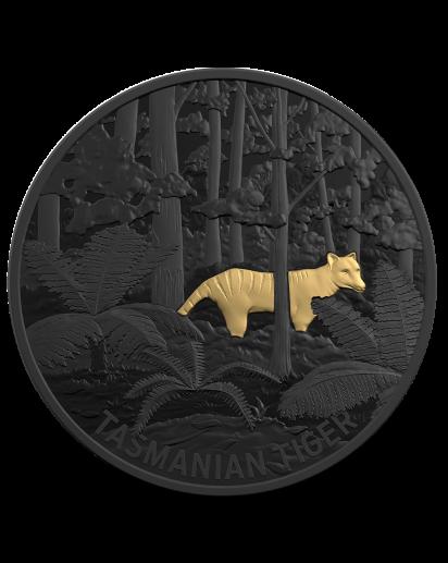 Australien 2019 Echoes of Australien Fauna - Tasmanischer Tiger Silber PP Black Nickel