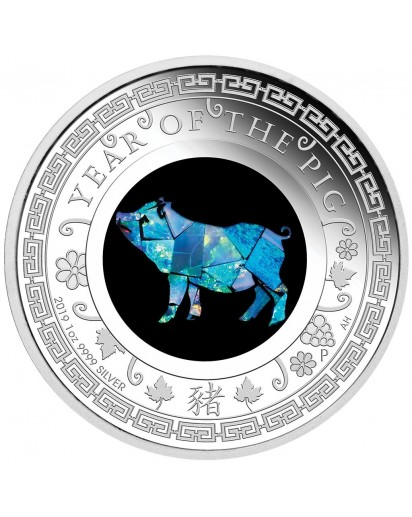 Australien 2019  OPAL SERIE Jahr des Schweines Silber PP