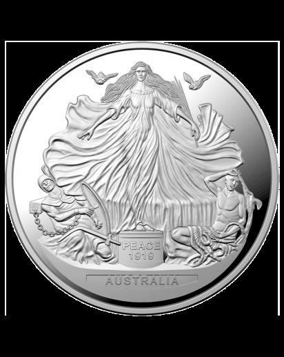 Australien 2019 Vertrag von Versailles - Peace 1919 Silber 1 oz PP
